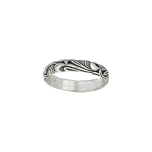 Carved Leaf Ring