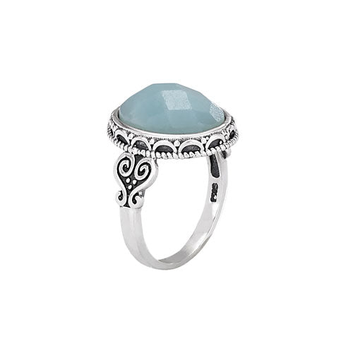 Faceted Amazonite Ring