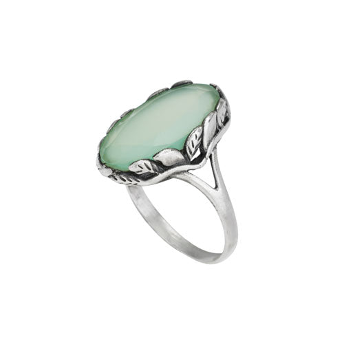 Open Prehnite Ring