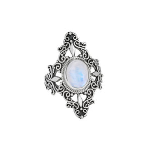 Decorative Moonstone Ring