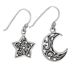 One Star One Moon Earring