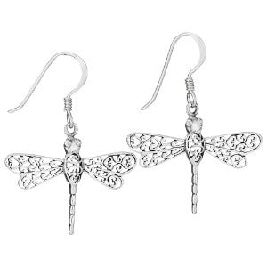 Silver Dragonfly Earring