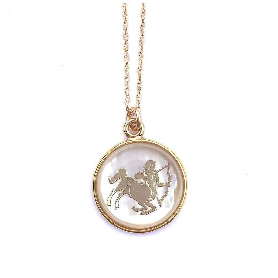 Mother of Pear Zodiac Necklace