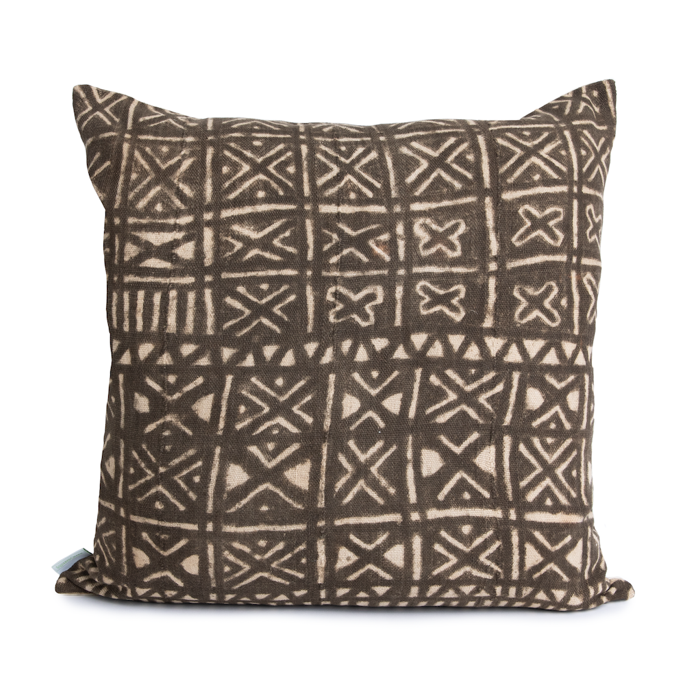 Miles | Vintage Black Mud Cloth Pillow Cover | Limited Design