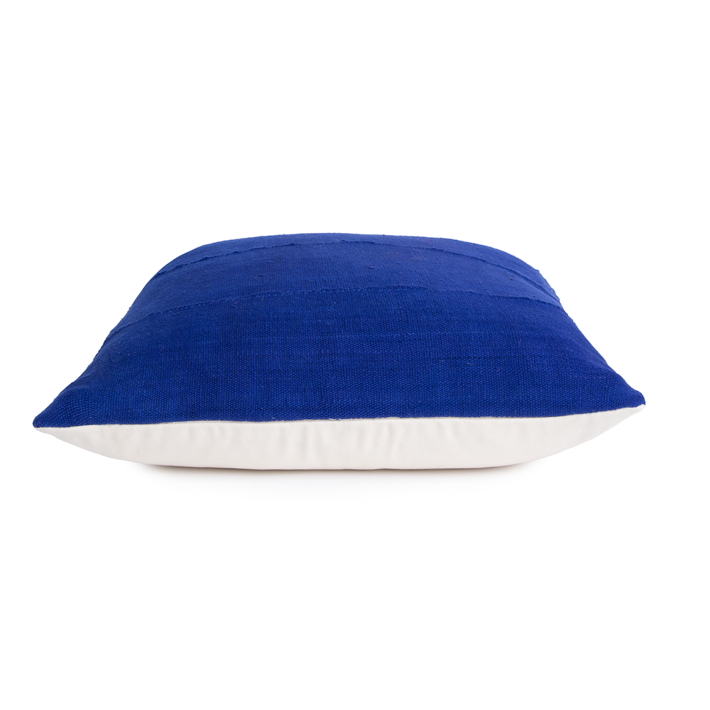 Chloe | Royal Blue | Mud Cloth Pillow Cover