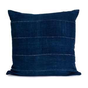 Bennie | Vintage Indigo Blue | Mud Cloth Pillow Cover |