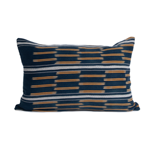 Natalie | Vintage Indigo Orange Pillow Cover | Limited Edition