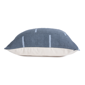 Dabney |  Gray | Simple Lines | Mud Cloth Pillow Cover |