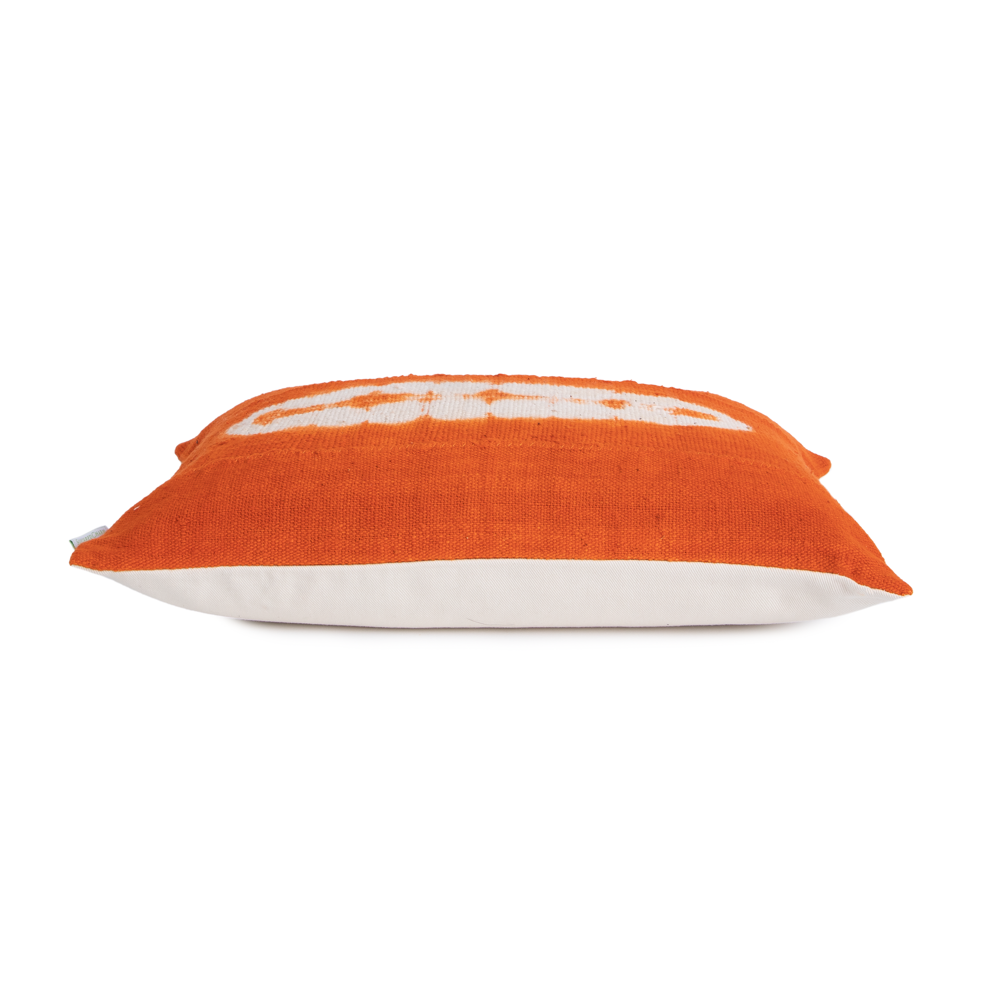 Riley | Orange Oval | Mud Cloth Pillow Cover |