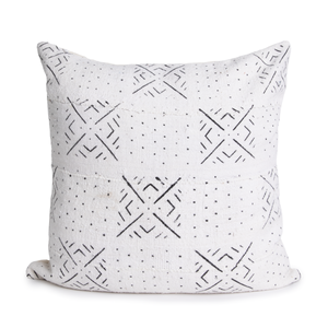 Leah | Black and White | Mud Cloth Pillow Cover