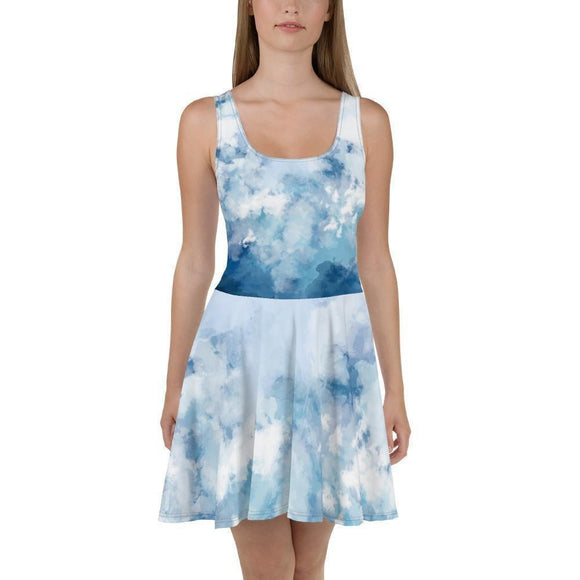 All-Over Print Skater Dress - new-look-paris