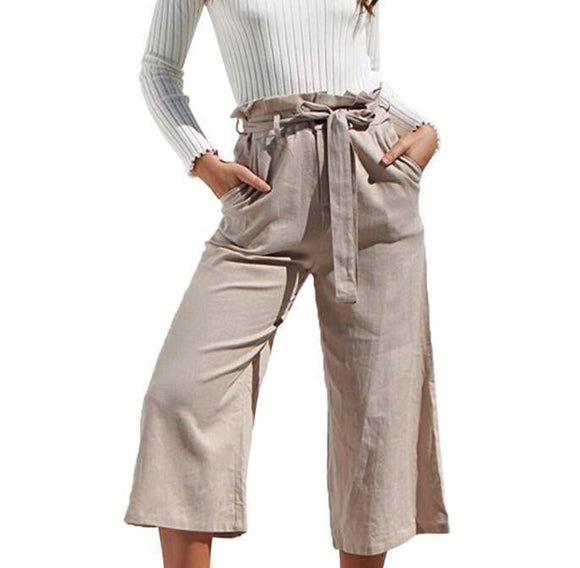 pantalon large femmes - new-look-paris