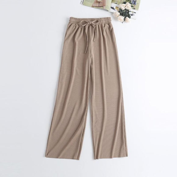 Pantalon large en soie