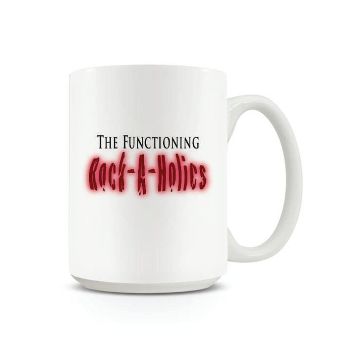 16 Oz. Solid White Bistro Rock-A-Holic Mug