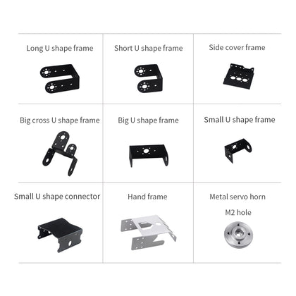 Double-shaft Servo Frame/Bracket: Compatible with Hiwonder Double-shaft Servo