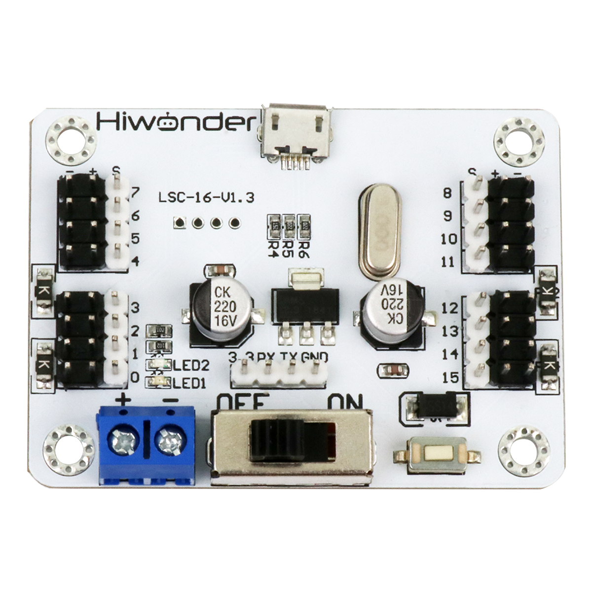 LSC-16: Hiwonder 16 Channel Servo Controller with Over-Current Protection