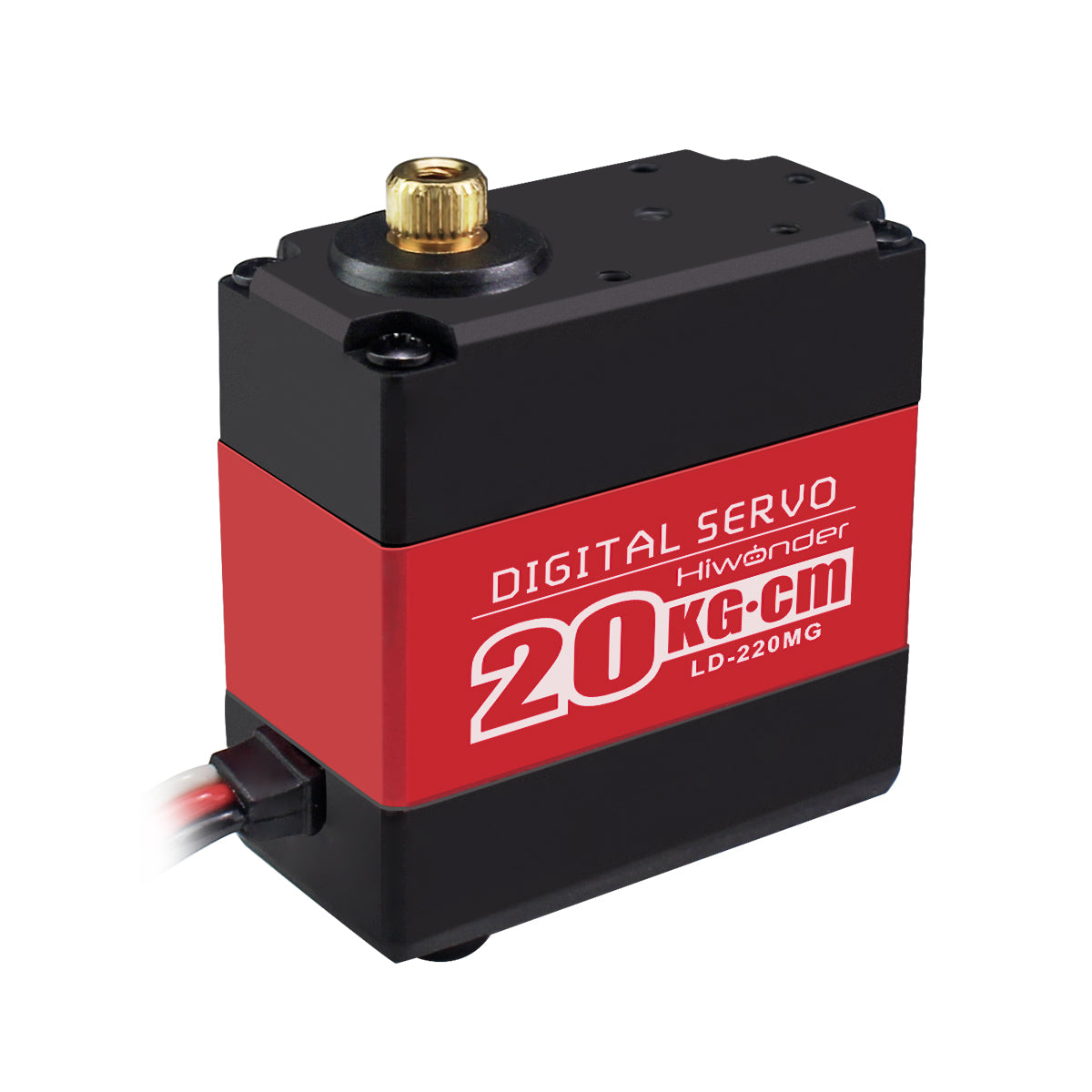 Hiwonder LD-220MG Full Metal Gear Digital Servo with Dual Ball Bearing,Metal Servo Horn, Metal Bracket for Robot