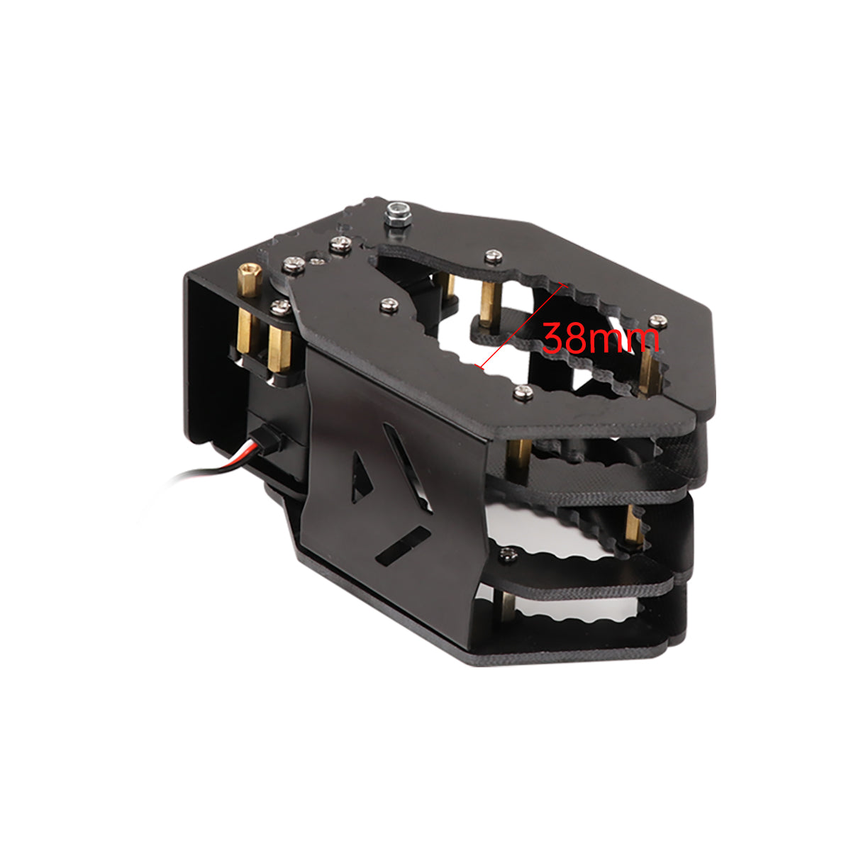 Black Metal Mechanical Gripper for Robot DIY