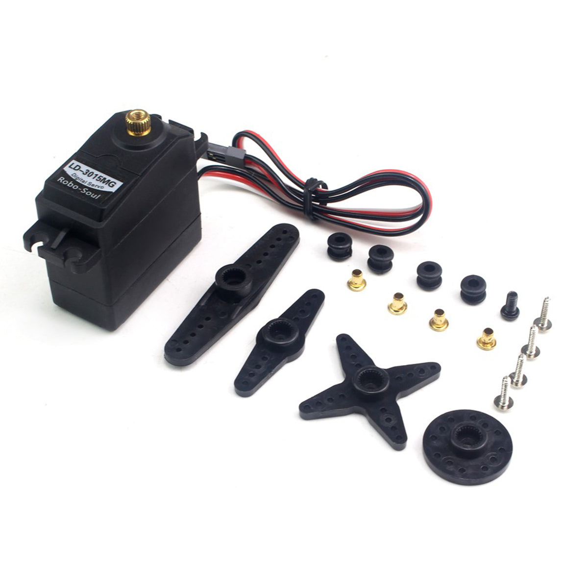 Hiwonder LD-3015MG  Full Metal Gear Digital Servo with 17kg High Torque for RC Robot Car