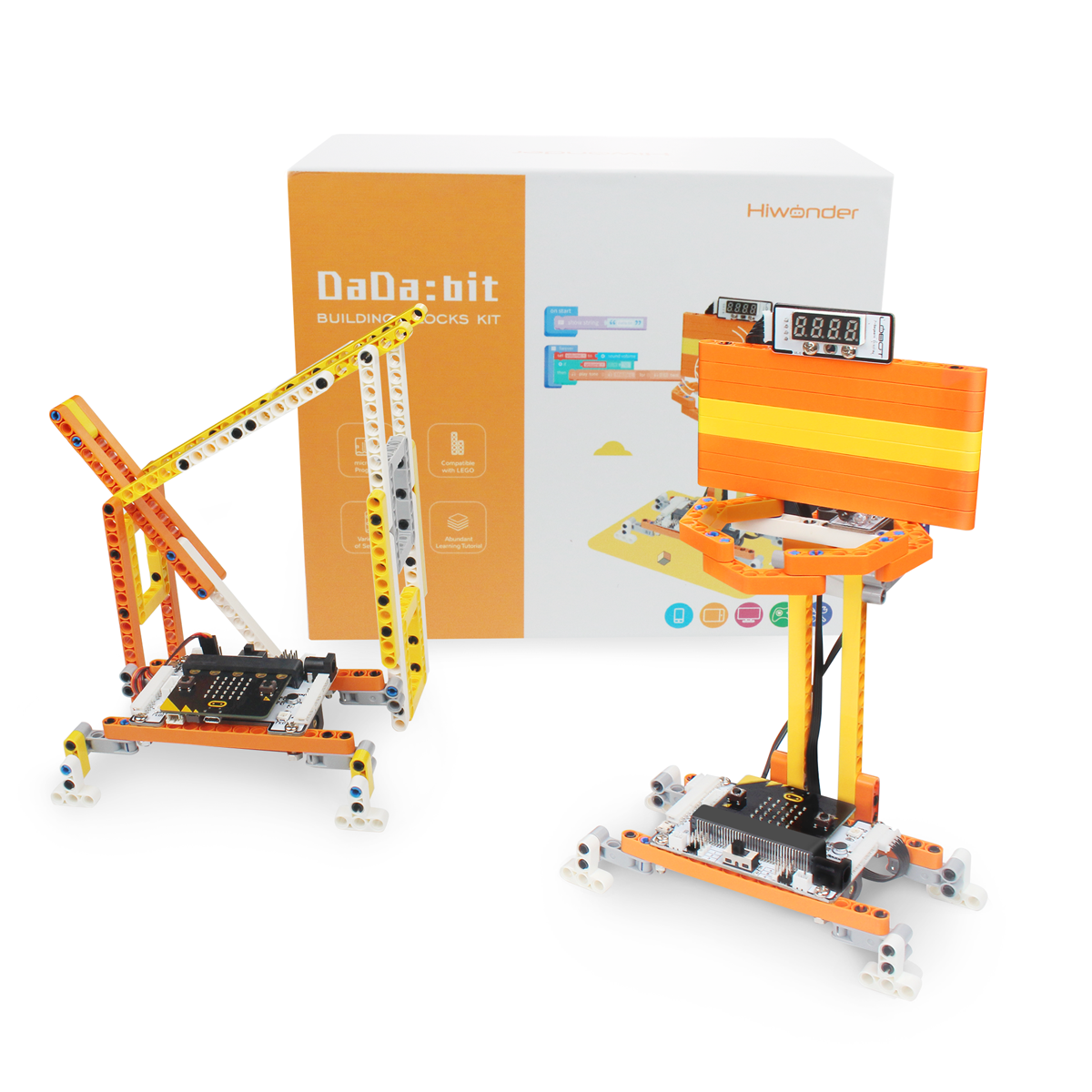 DaDa:bit  DIY Building Blocks Kit with 200+ Structural Parts for Building Inventions