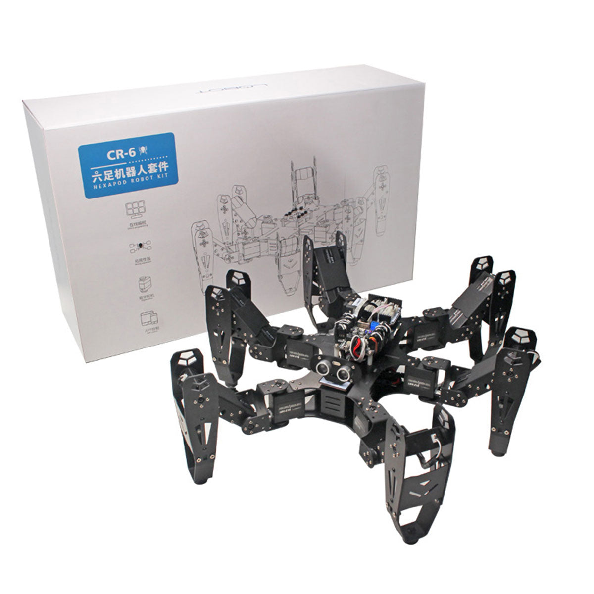 CR-6 Hexapod Robot: Hiwonder Hexapod Programmable Robot with Secondary Development