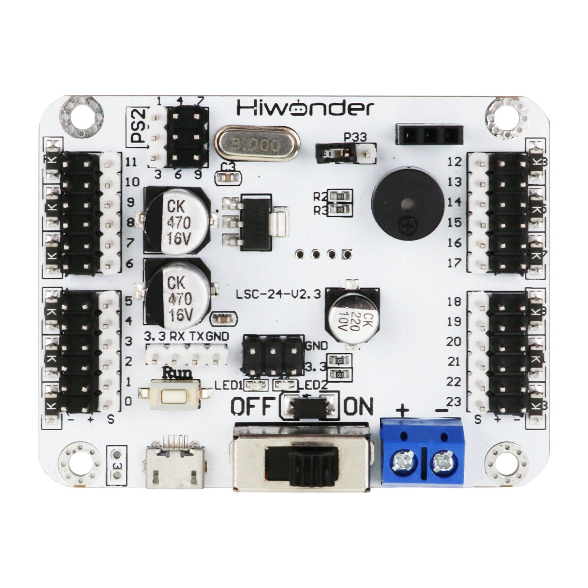 LSC-24: Hiwonder 24 Channel Digital Servo Controller with 16M Memory/Arduino Compatible