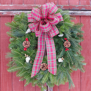 Country Maine Christmas Wreath