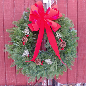Traditional Maine Christmas Wreath