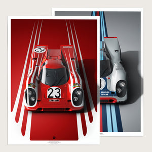 917 Front Design Edition 2er Red Silver