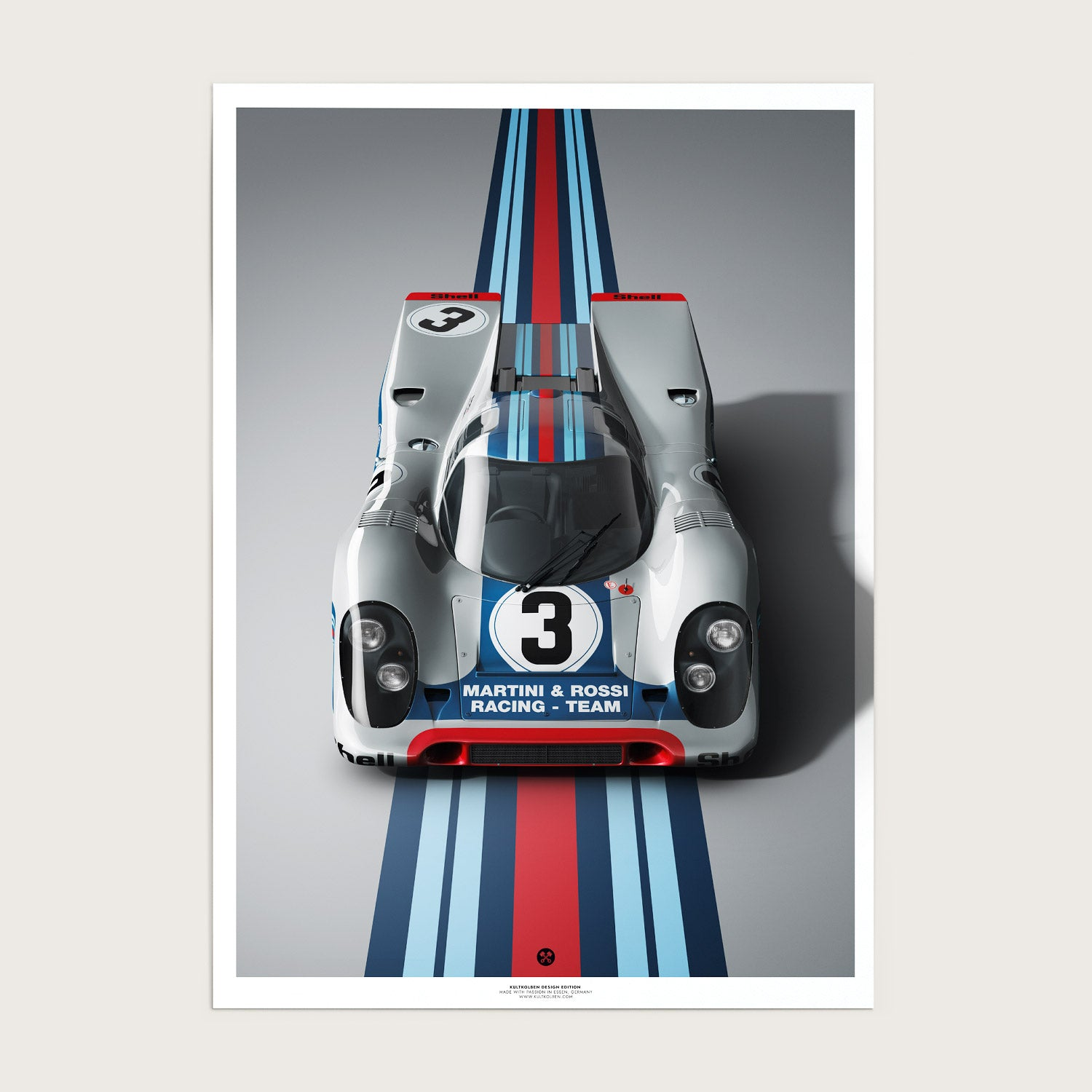 917 Front Design Edition 3er Red Blue Silver