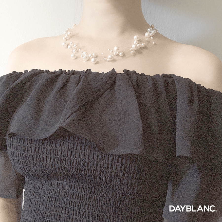 Misty Pearl Set 미스티 펄 세트 (Earring + Necklace Set) - DAYBLANC