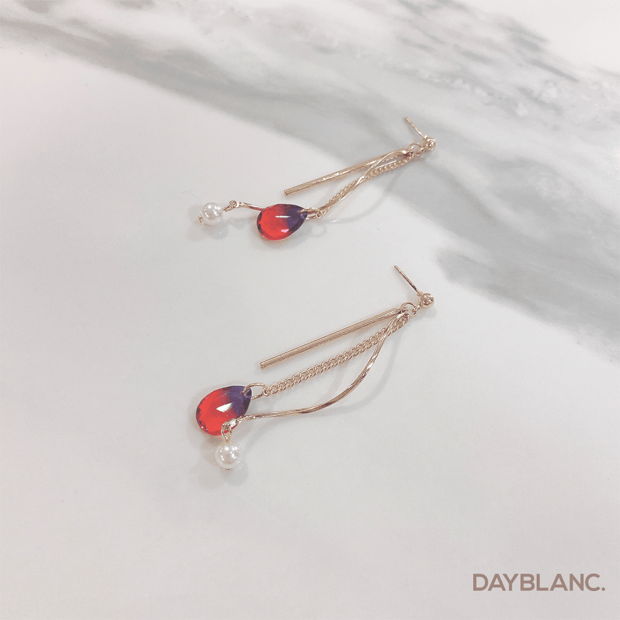 Cherry Crystal Drop (Earring) - DAYBLANC