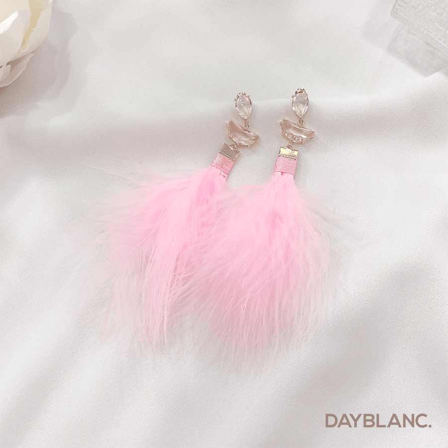 Pink Feather 분홍 깃털 (Premium Earring) - DAYBLANC