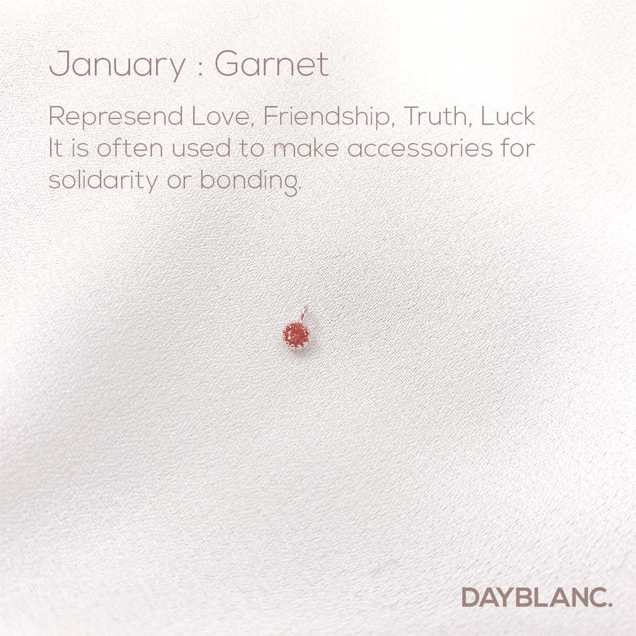 Rose Stone Ring 로즈 스톤 링 (Premium Birthstone Ring) - DAYBLANC