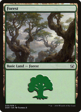 Forest (35) [Duel Decks: Nissa vs. Ob Nixilis] | Game Knights | MA | Game Knights MA