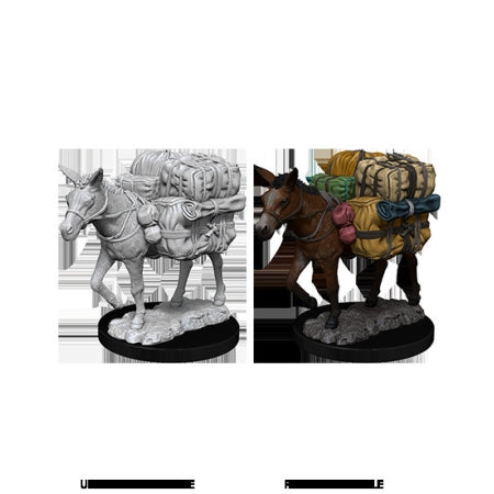 WizKids Deep Cuts Unpainted Miniatures: W7 Pack Mule | Game Knights | MA | Game Knights MA