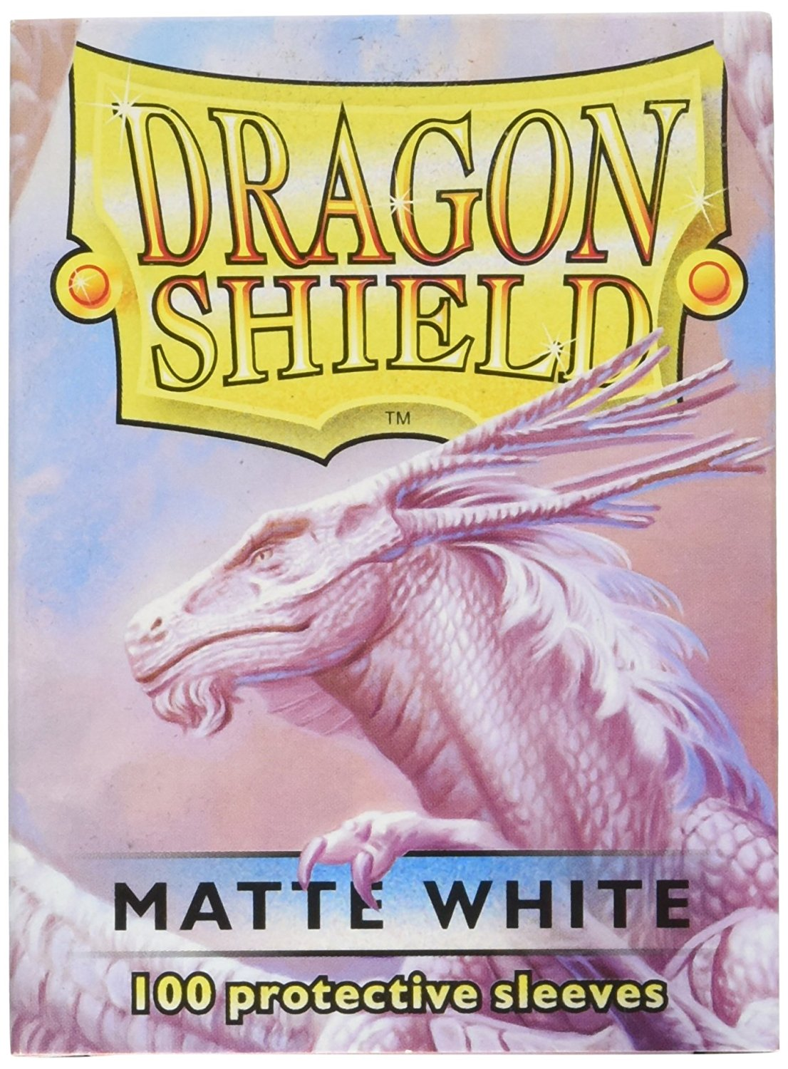 Dragon Shields: (100) Matte White | Game Knights MA