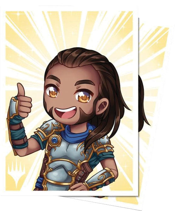 Magic the Gathering: Planeswalker Chibi Deck Protector Sleeves - Gideon Good Job (100) | Game Knights MA