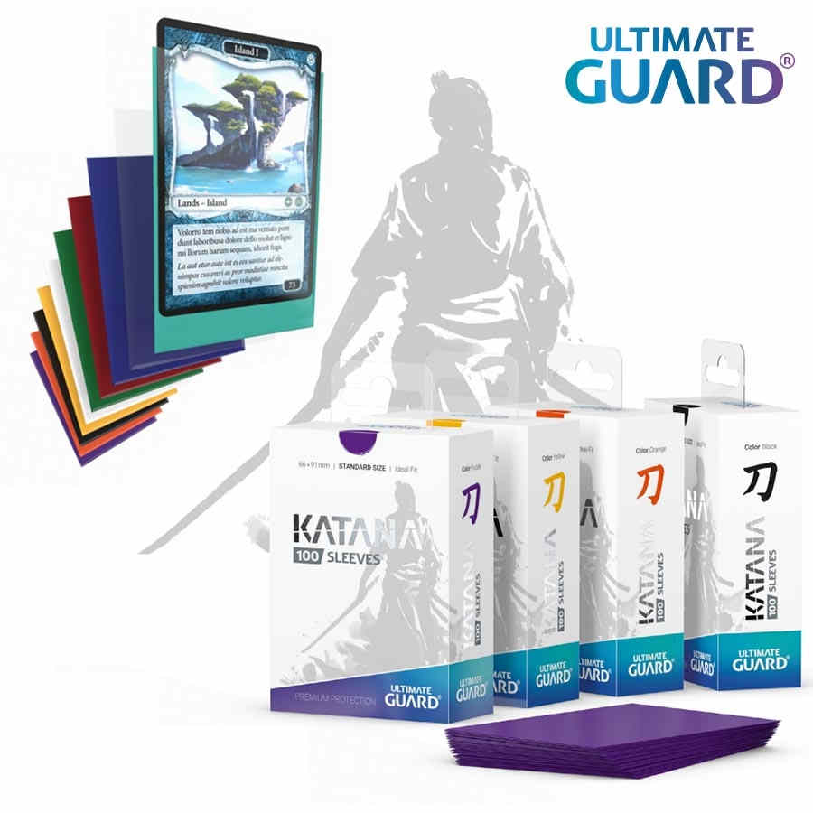 KATANA SLEEVES: STANDARD SIZE BLUE (100CT) | Game Knights MA