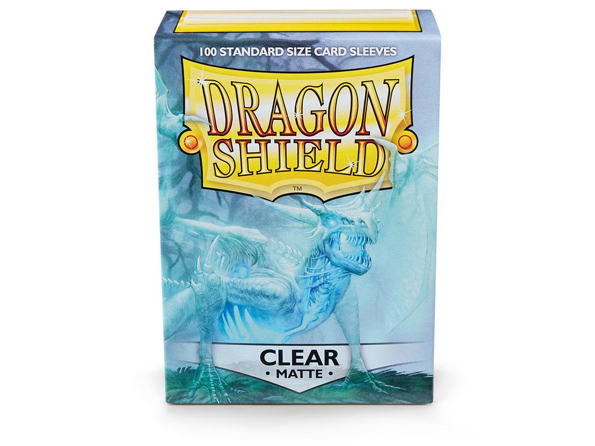 Dragon Shields: (100) Matte Clear | Game Knights MA