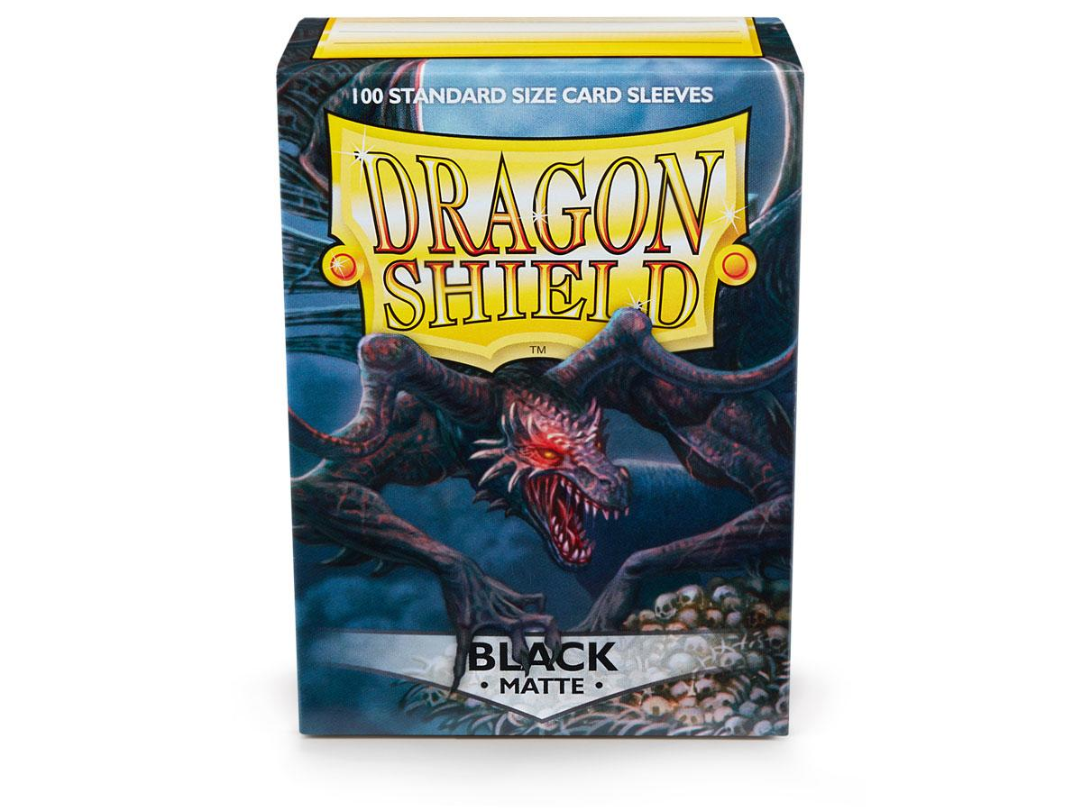 Dragon Shields: (100) Matte Black | Game Knights MA