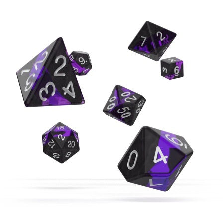 OAKIE DOAKIE DICE: POLYHEDRAL RPG SET ENCLAVE - AMETHYST (7CT) | Game Knights | MA | Game Knights MA