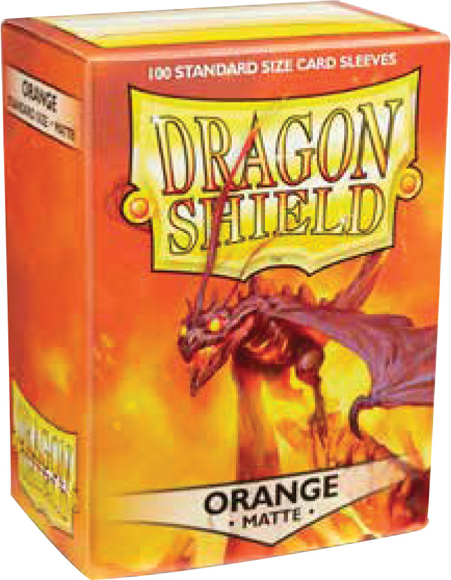Dragon Shields: (100) Matte Orange | Game Knights MA