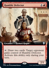 Humble Defector (Extended Art) [Commander Legends] | Game Knights | MA | Game Knights MA