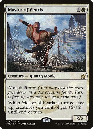 Master of Pearls [Khans of Tarkir Promos] | Game Knights | MA | Game Knights MA