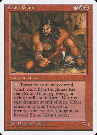 Stone Giant [Fourth Edition] | Game Knights | MA | Game Knights MA