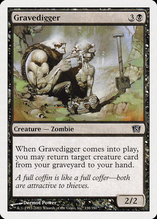 Gravedigger [Eighth Edition] | Game Knights | MA | Game Knights MA