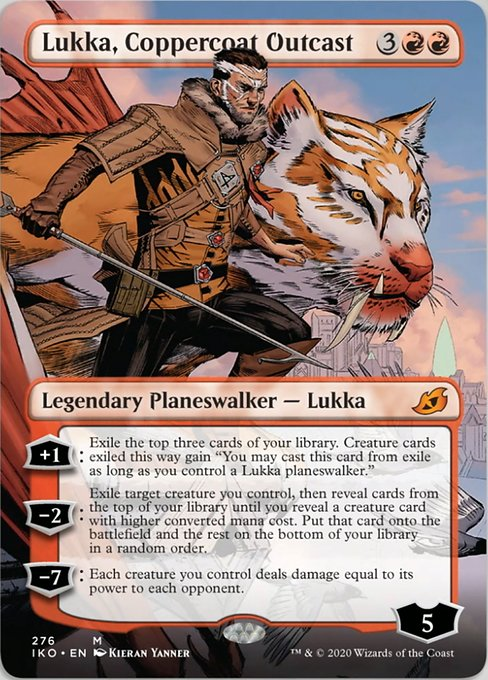 Lukka, Coppercoat Outcast (Borderless) [Ikoria: Lair of Behemoths] | Game Knights | MA | Game Knights MA