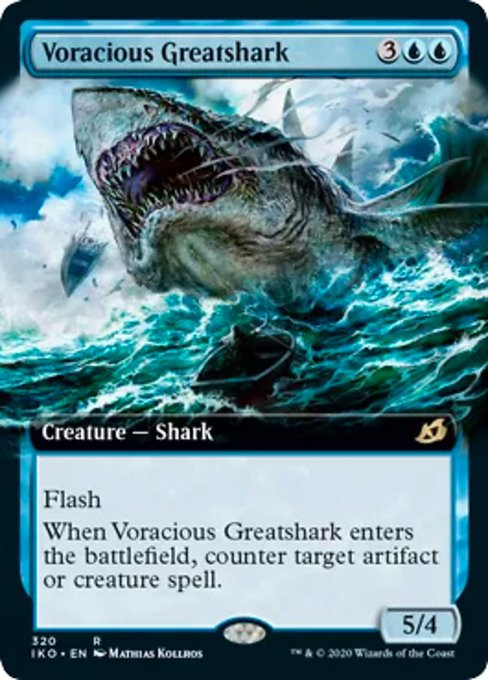 Voracious Greatshark (Extended Art) [Ikoria: Lair of Behemoths] | Game Knights | MA | Game Knights MA