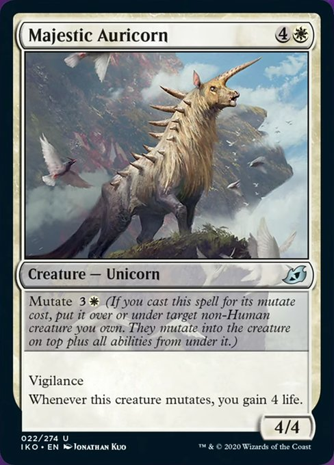 Majestic Auricorn [Ikoria: Lair of Behemoths] | Game Knights | MA | Game Knights MA
